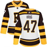Wholesale Cheap Adidas Bruins #47 Torey Krug White Authentic 2019 Winter Classic Women's Stitched NHL Jersey
