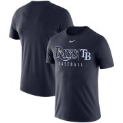Wholesale Cheap Tampa Bay Rays Nike MLB Practice T-Shirt Navy