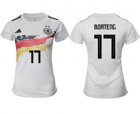 Wholesale Cheap Women\'s Germany #17 Boateng White Home Soccer Country Jersey