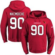 Wholesale Cheap Nike Cardinals #90 Robert Nkemdiche Red Name & Number Pullover NFL Hoodie