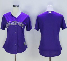 Wholesale Cheap Rockies Blank Purple Women\'s Alternate Stitched MLB Jersey