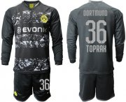 Wholesale Cheap Dortmund #36 Toprak Away Long Sleeves Soccer Club Jersey