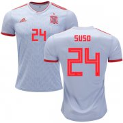 Wholesale Cheap Spain #24 Suso Away Soccer Country Jersey
