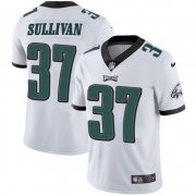 Wholesale Cheap Nike Eagles #37 Tre Sullivan White Men's Stitched NFL Vapor Untouchable Limited Jersey