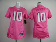 Wholesale Cheap Nike Texans #10 DeAndre Hopkins Pink Women's Be Luv'd Stitched NFL New Elite Jersey