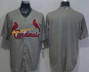Wholesale Cheap Cardinals Blank Grey New Cool Base Stitched MLB Jersey