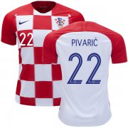 Wholesale Cheap Croatia #22 Pivaric Home Kid Soccer Country Jersey