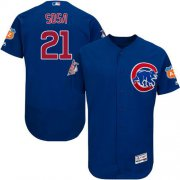 Wholesale Cubs #21 Sammy Sosa Blue Flexbase Authentic Collection Stitched Baseball Jersey