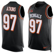 Wholesale Cheap Nike Bengals #97 Geno Atkins Black Team Color Men's Stitched NFL Limited Tank Top Jersey