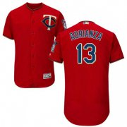 Wholesale Cheap Twins #13 Ehire Adrianza Red Flexbase Authentic Collection Stitched MLB Jersey