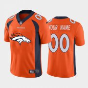 Wholesale Cheap Denver Broncos Orange Custom Men's Nike Big Team Logo Vapor Limited NFL Jersey