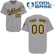 Wholesale Cheap Athletics Personalized Authentic Grey Cool Base MLB Jersey (S-3XL)