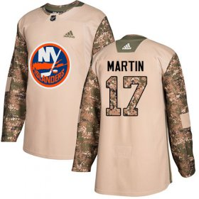 Wholesale Cheap Adidas Islanders #17 Matt Martin Camo Authentic 2017 Veterans Day Stitched NHL Jersey