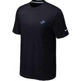 Wholesale Cheap Nike Detroit Lions Chest Embroidered Logo T-Shirt Black