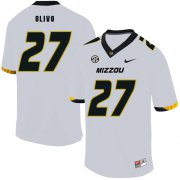 Wholesale Cheap Missouri Tigers 27 Brock Olivo White Nike College Football Jersey