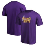 Wholesale Cheap Minnesota Vikings 2019 NFL Playoffs Bound Hometown Checkdown T-Shirt Purple