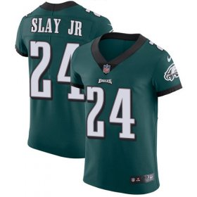 Wholesale Cheap Nike Eagles #24 Darius Slay Jr Green Team Color Men\'s Stitched NFL Vapor Untouchable Elite Jersey