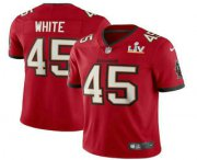 Wholesale Cheap Men's Tampa Bay Buccaneers #45 Devin White Red 2021 Super Bowl LV Vapor Untouchable Stitched Nike Limited NFL Jersey