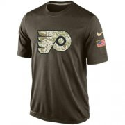 Wholesale Cheap Men's Philadelphia Flyers Salute To Service Nike Dri-FIT T-Shirt