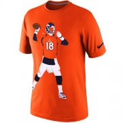 Wholesale Cheap Denver Broncos #18 Peyton Manning Nike Silhouette T-Shirt Orange