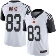 Wholesale Cheap Nike Bengals #83 Tyler Boyd White Men's Stitched NFL Limited Rush Jersey