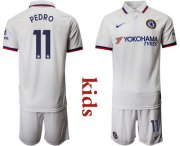 Wholesale Cheap Chelsea #11 Pedro Away Kid Soccer Club Jersey