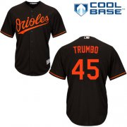 Wholesale Cheap Orioles #45 Mark Trumbo Black Cool Base Stitched Youth MLB Jersey