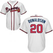 Wholesale Cheap Braves #20 Josh Donaldson White Cool Base Stitched Youth MLB Jersey