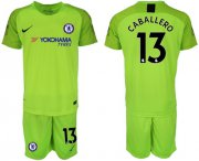 Wholesale Cheap Chelsea #13 Caballero Green Goalkeeper Soccer Club Jersey