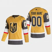 Wholesale Cheap Vegas Golden Knights Custom Men's Adidas 2020-21 Authentic Player Alternate Stitched NHL Jersey Gold