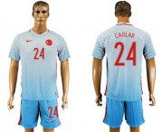Wholesale Cheap Turkey #24 Caglar Away Soccer Country Jersey