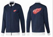Wholesale Cheap NHL Detroit Red Wings Zip Jackets Dark Blue