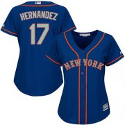 Wholesale Cheap Mets #17 Keith Hernandez Blue(Grey NO.) Alternate Women's Stitched MLB Jersey