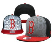 Wholesale Cheap MLB Boston Red Sox Snapback Ajustable Cap Hat YD 4