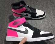 Wholesale Cheap Air Jordan 1 GS Valentine's Day Shoes Black/Hyper Pink-White