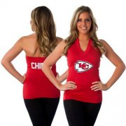 Wholesale Cheap Women's All Sports Couture Kansas City Chiefs Blown Coverage Halter Top