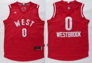 Wholesale Cheap 2015-16 NBA Western All-Stars Men's #0 Russell Westbrook Revolution 30 Swingman Red Jersey
