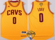 Wholesale Cheap Men's Cleveland Cavaliers #0 Kevin Love 2017 The NBA Finals Patch Yellow Jersey