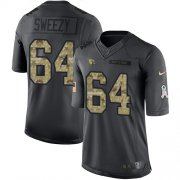 Wholesale Cheap Nike Cardinals #64 J.R. Sweezy Black Men's Stitched NFL Limited 2016 Salute to Service Jersey