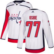 Wholesale Cheap Adidas Capitals #77 T.J. Oshie White Road Authentic Stitched Youth NHL Jersey