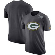 Wholesale Cheap NFL Men's Green Bay Packers Nike Anthracite Crucial Catch Tri-Blend Performance T-Shirt
