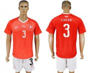 Wholesale Cheap Switzerland #3 Llacroi Red Home Soccer Country Jersey
