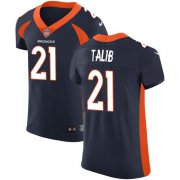 Wholesale Cheap Nike Broncos #21 Aqib Talib Navy Blue Alternate Men's Stitched NFL Vapor Untouchable Elite Jersey