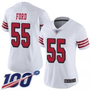 Wholesale Cheap Nike 49ers #55 Dee Ford White Rush Women's Stitched NFL Limited 100th Season Jersey