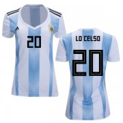 Wholesale Cheap Women's Argentina #20 Lo Celso Home Soccer Country Jersey
