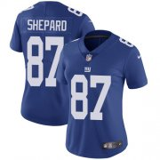 Wholesale Cheap Nike Giants #87 Sterling Shepard Royal Blue Team Color Women's Stitched NFL Vapor Untouchable Limited Jersey
