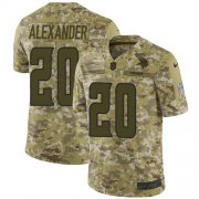 Wholesale Cheap Nike Vikings #20 Mackensie Alexander Camo Men's Stitched NFL Limited 2018 Salute To Service Jersey