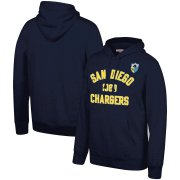 Wholesale Cheap San Diego Chargers Mitchell & Ness Team History Pullover Hoodie Navy