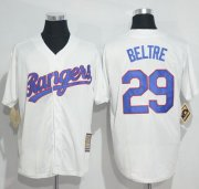 Wholesale Cheap Rangers #29 Adrian Beltre White Cooperstown Stitched MLB Jersey