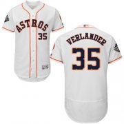 Wholesale Cheap Astros #35 Justin Verlander White Flexbase Authentic Collection 2019 World Series Bound Stitched MLB Jersey